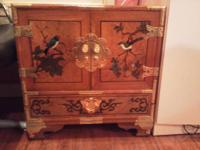 this amazing 19 70's Asian hutch is highly detailed