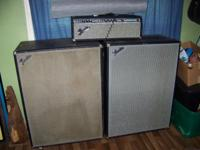 70's Bassman 100 Head w/2/ 4x12 Cabs. SOUNDS Good,