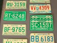 Small collection of 1970's car and truck license