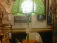 "1970's Green Lamp. 31"" Tall. $85. Mid Century Atomic"