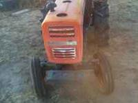 Runs, has PTO tiller, box scrapper and fork