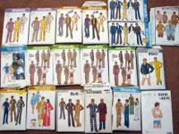 This collection of 19 vintage mens clothing patterns is