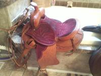 This western saddle was made in 1972, which makes it an
