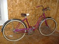 for sale is a 1970 girls Schwinn 2 speed. The bike is a