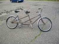 Up for sale here is a rather unique schwinn tandem