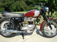 1970 Triumph Bonneville, fresh restoration of a rust