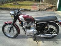 1970 Triumph Bonneville, (Super Twin.) Originally 650