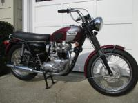 Bonneville motorcycle has just undergone a full