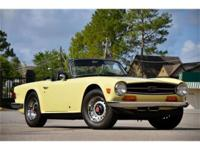 This 1970 Triumph TR6 Convertible . It is equipped with