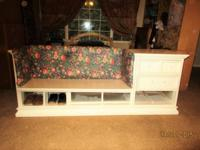 Bench seat for putting shoes on and off plus storage of