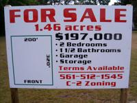 1.46 Acres, C-2 zoning, 200' X 320' just 300' west of