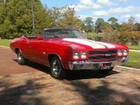 1970 Chevelle Super Sport Convertible. This spectacular