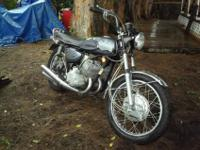The bike is a 1970 Mach Three Kawasaki H1 500. KAF