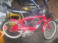Great condition red banana seat bike. Bike is all