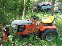 1970's simplicity lawn mower 34155 with plow runs has a