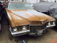 1971 Cadillac Coupe Deville. SOLID PROJECT CAR,EED