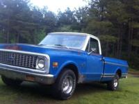 I've got a 1971 Chevrolet c10 Deluxe that runs drives.
