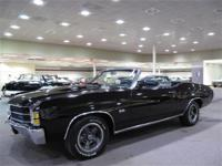 This 1971 Chevelle has black exterior paint, black