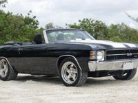 1971 Chevrolet Chevelle SS Convertible. Black with