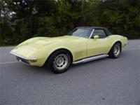 1971 Chevrolet Corvette Convertible 350-270hp, 4 speed,