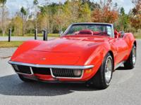 1971 Chevrolet Corvette Convertible red on red with 350