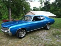 71 Chevelle Malibu Sport Coupe, Blue with Blue
