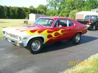 1971 Chevy Nova 350 v8 Chevy Motor. AT on floor. Bucket