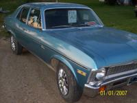 Beautiful 1971 Chevy Nova. 307 Turbojet motor with 97k