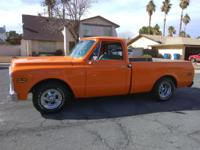 TANGER-ORANGE NICE '71 CHEYENNE HALF-TON PICK UP TRUCK.
