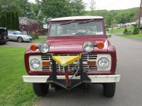 1971 Ford Bronco 302  V8 3 Speed Manual. The Maroon Red