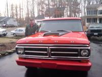 1971 Ford F100. Runs well. Rebuilt 306 engine. 3 speed