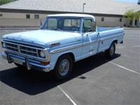 2-OWNER 1971 FORD PICKUP XLT, POWERED BY ITS ORIGINAL