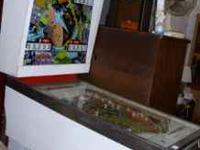 1971 Gottleib 4 player orbit pinball machine, lights