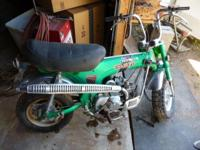Emerald green1971 Honda ct70h. First years for the