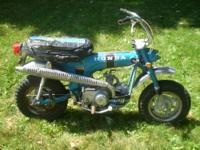 For sale is a 1970 Sapphire Blue K0 Honda CT70 CT 70