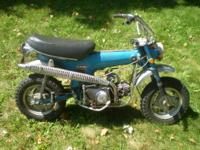 For sale is a 1971 Sapphire Blue K0 Honda CT70 CT 70
