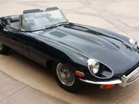 1971 JAGUAR XKE ROADSTER DARK BLUE/GREY INTERIOR ONE