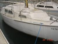 FOR SALE IS AN 27 FT TWIN KEEL MARCON SAILBOAT GOOD