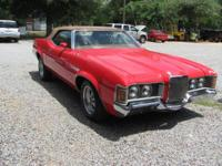 Classic Cougar Convertible, Candy Apple Red, beautiful