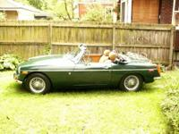 1971 MGB Roadster British Racing Green, Tan interior,