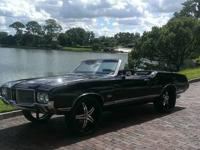 1971 Oldsmobile Cutlass Convertible. This triple black