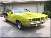 1971 Plymouth Cuda Convertible Extremely rare drop top