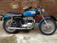 I am selling a classic triumph 650 . This motorcycle
