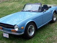 1971 Triumph TR6 4 speed no overdrive Same owner last