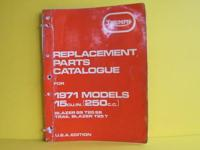 1971 Triumph Trophy 250 Replacement Parts Catalog -