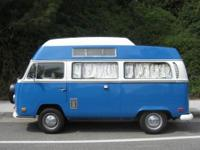 Rare VW Camper Van with extended top with built in