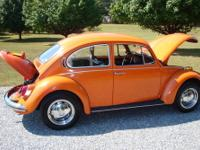 for sale is a 1971 vw bug it has a new rebuilt motor &