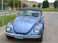 1971 VW Convertible Bug. Vehicle has 65,405