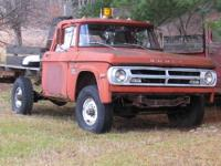 This is a 1971 Dodge D200 Power Wagon with low miles on