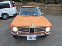 For sale is a 1972 BMW 2002. It is the desirable round
